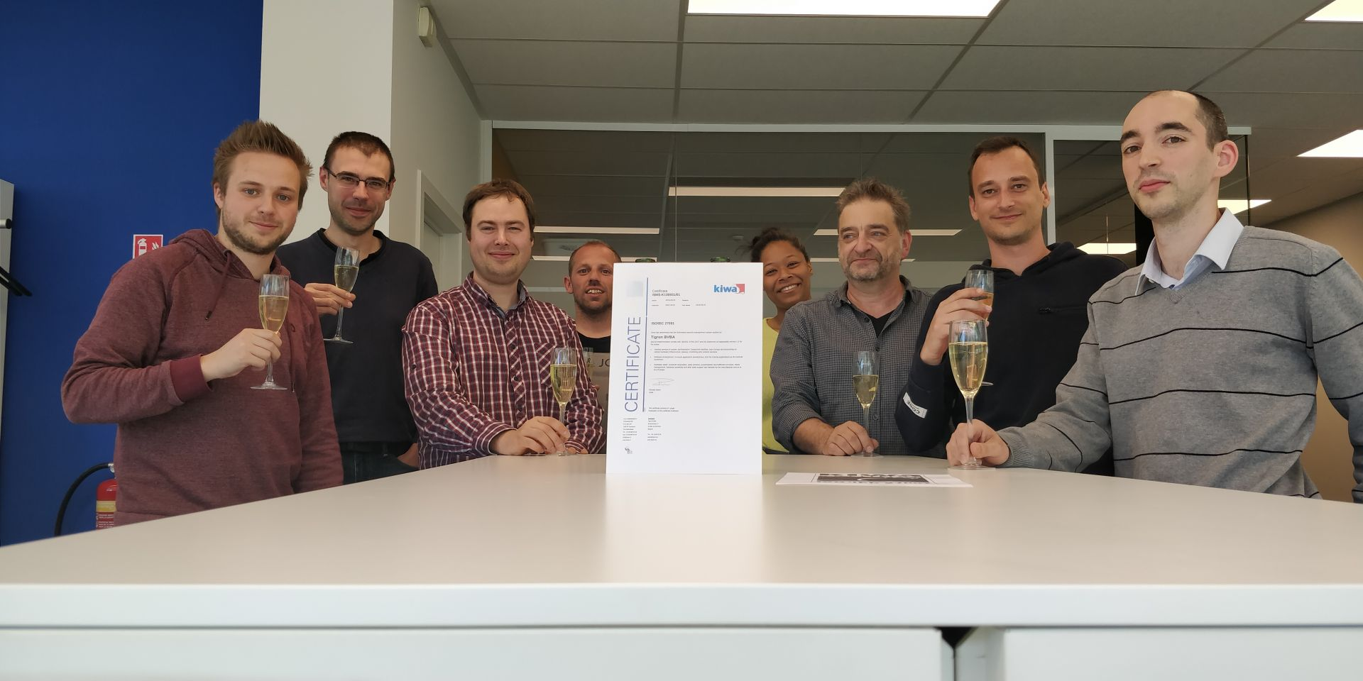 Tigron ISO 27001 certified